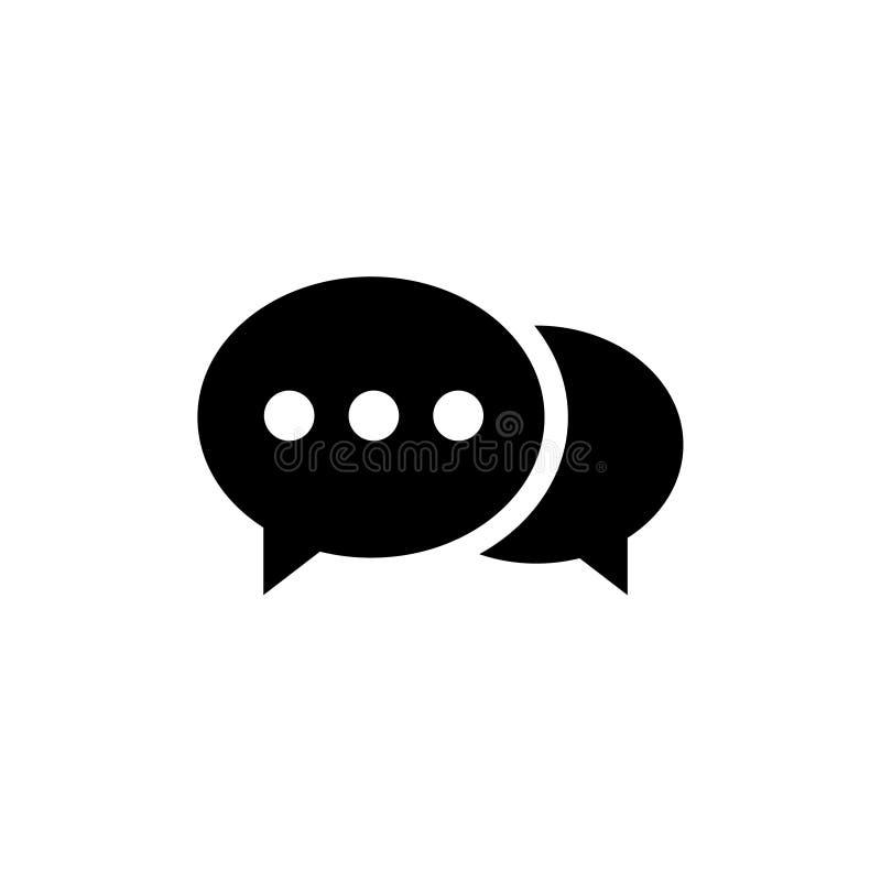 Icono de la burbuja del discurso Uno de iconos determinados del vector de la web stock de ilustración