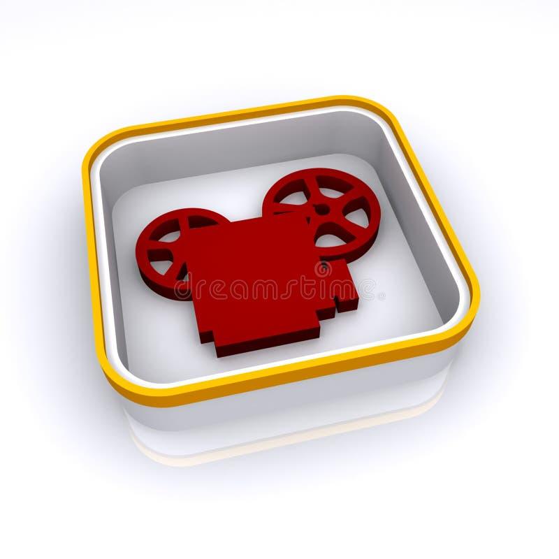 Icono de la cámara de la película de película libre illustration