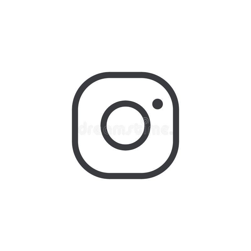 Icono de la cámara del vector Icono de la cámara de la foto stock de ilustración