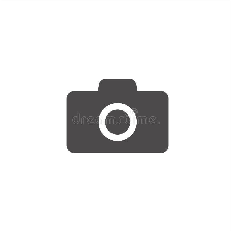 Icono de la cámara en estilo plano de moda aislado en el fondo blanco stock de ilustración