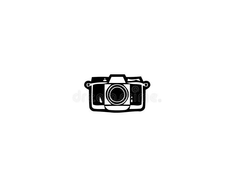 Icono de la cámara en estilo plano de moda aislado en el fondo blanco libre illustration
