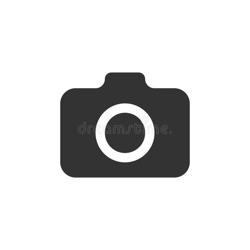 icono de la cámara de la foto en estilo plano Vect del equipo de la leva del fotógrafo stock de ilustración