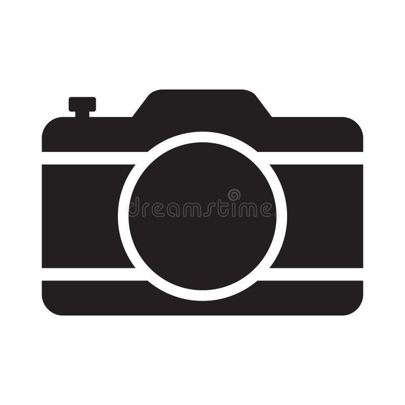 Icono de la cámara de la foto, cámara vieja retra ilustración del vector
