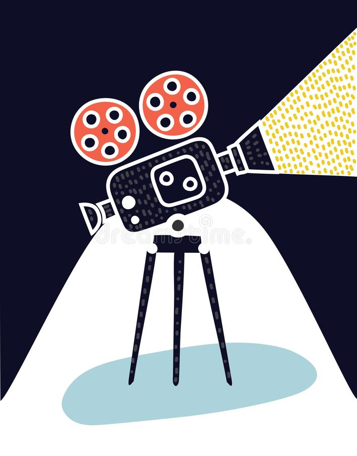 Icono de la cámara de vídeo libre illustration