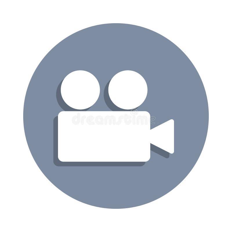 icono de la cámara de vídeo en estilo de la insignia Uno del icono de la colección del web se puede utilizar para UI, UX stock de ilustración