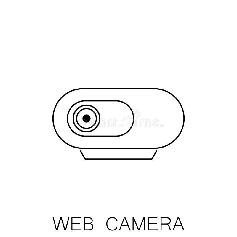 Icono de la cámara web en estilo plano aislado en el fondo blanco Para su diseño, logotipo stock de ilustración
