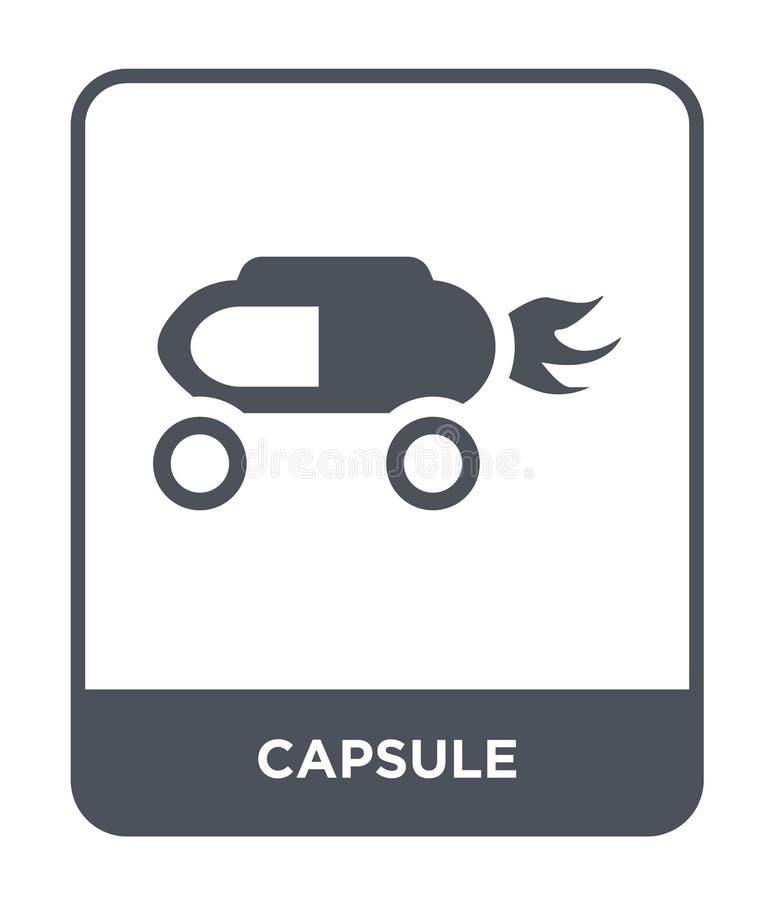 icono de la cápsula en estilo de moda del diseño E símbolo plano simple y moderno del icono del vector de la cápsula libre illustration