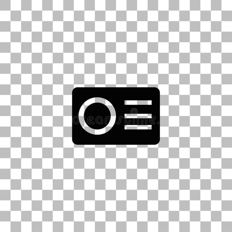 Icono de la c?mara de la acci?n plano ilustración del vector