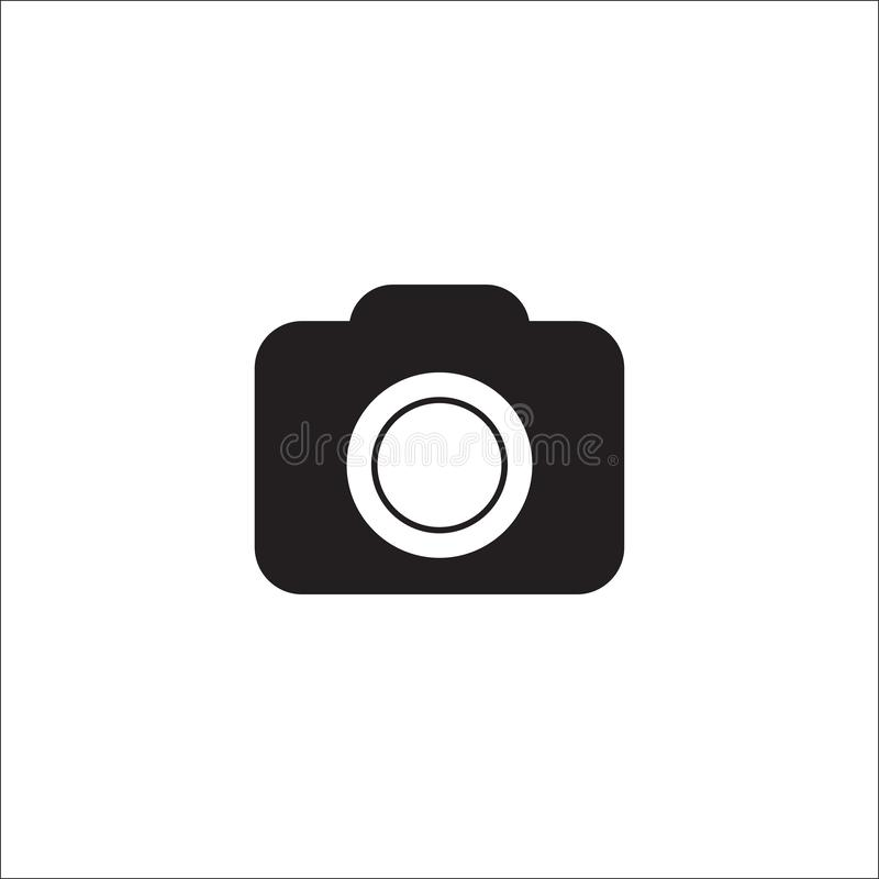 Icono de la c?mara en estilo plano de moda aislado en el fondo blanco S?mbolo para su dise?o del sitio web, logotipo, app, UI de  stock de ilustración