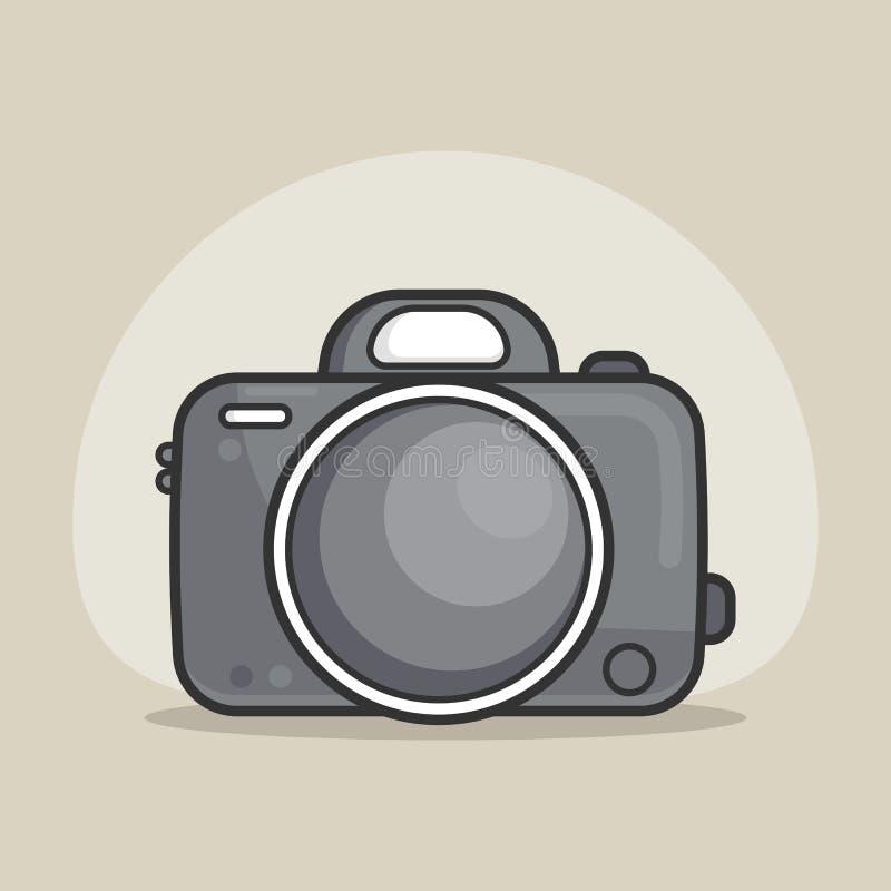 Icono de la c?mara de la foto, estilo plano m?nimo moderno del dise?o, ejemplo del vector libre illustration