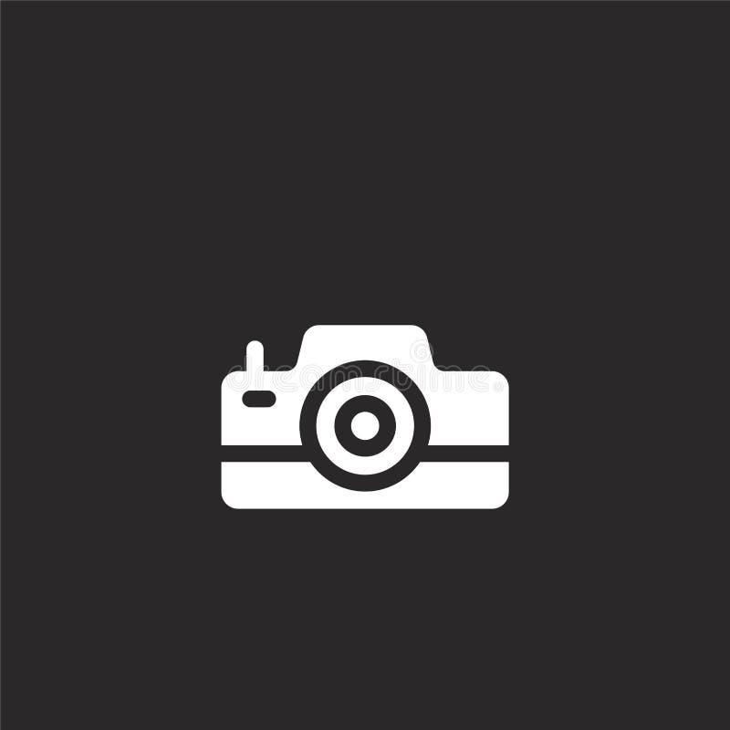 Icono de la c?mara de la foto Icono llenado de la cámara de la foto para el diseño y el móvil, desarrollo de la página web del ap ilustración del vector