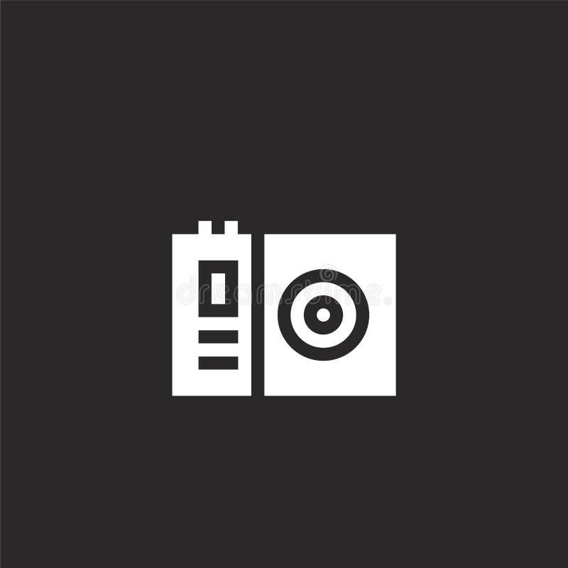 Icono de la c?mara Icono llenado de la cámara para el diseño y el móvil, desarrollo de la página web del app icono de la cámara d ilustración del vector