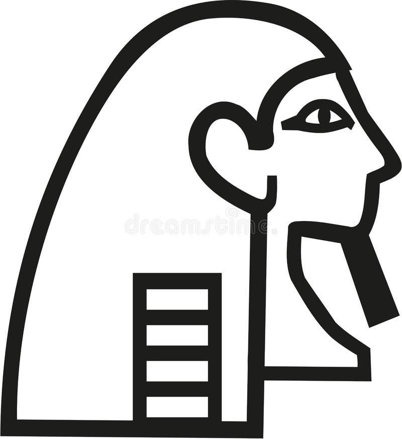 Icono de la cabeza de Pharao libre illustration