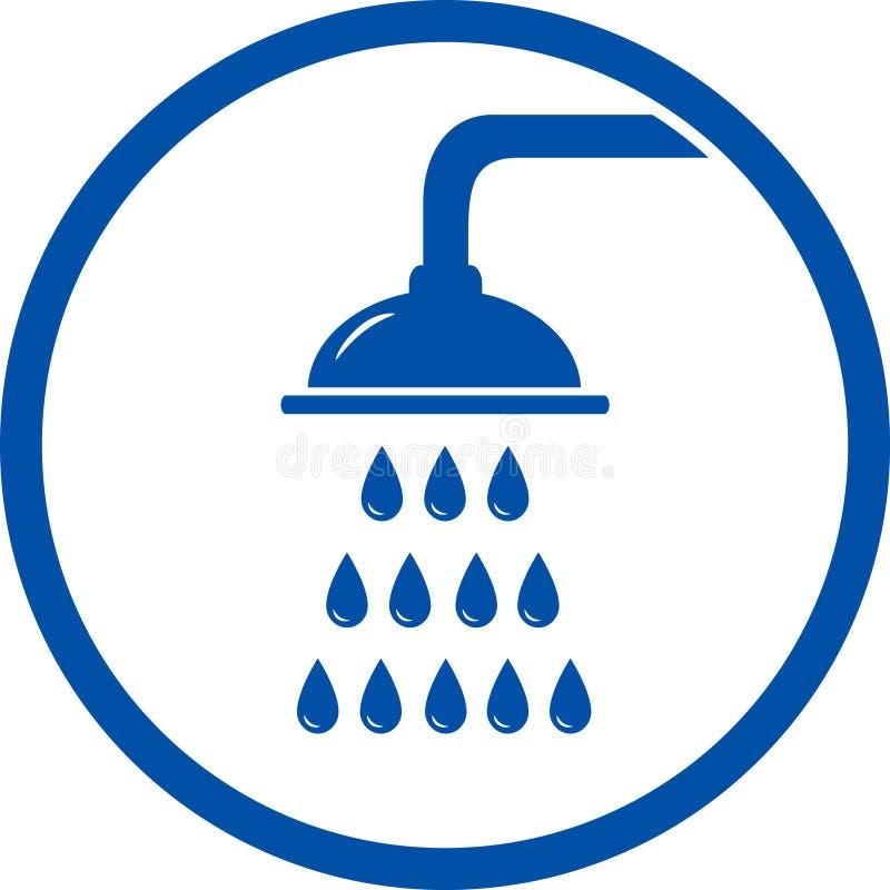 Icono de la cabezal de ducha ilustración del vector