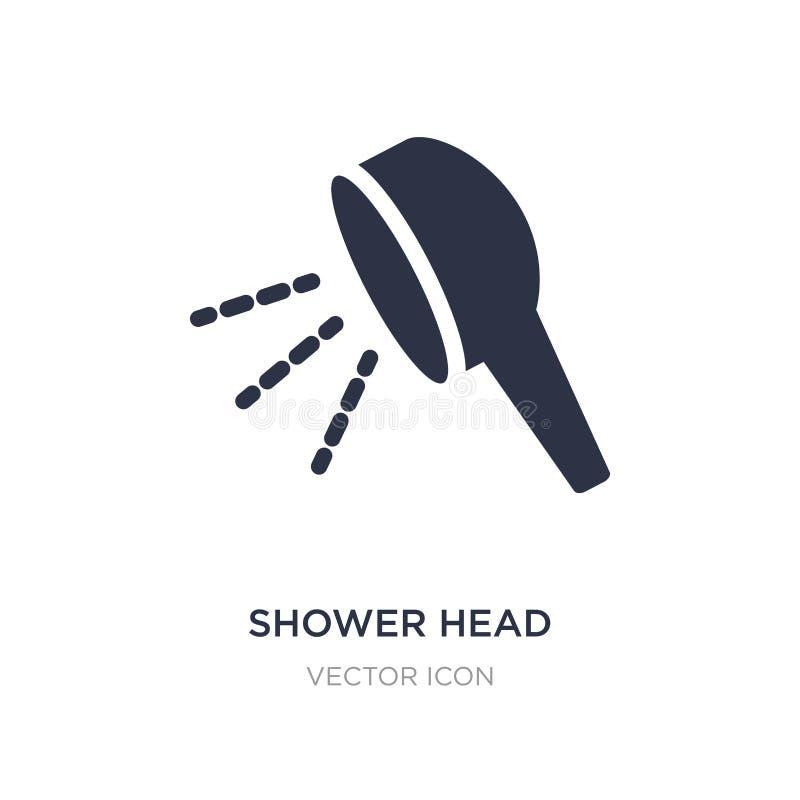icono de la cabezal de ducha en el fondo blanco Ejemplo simple del elemento del concepto de la belleza ilustración del vector