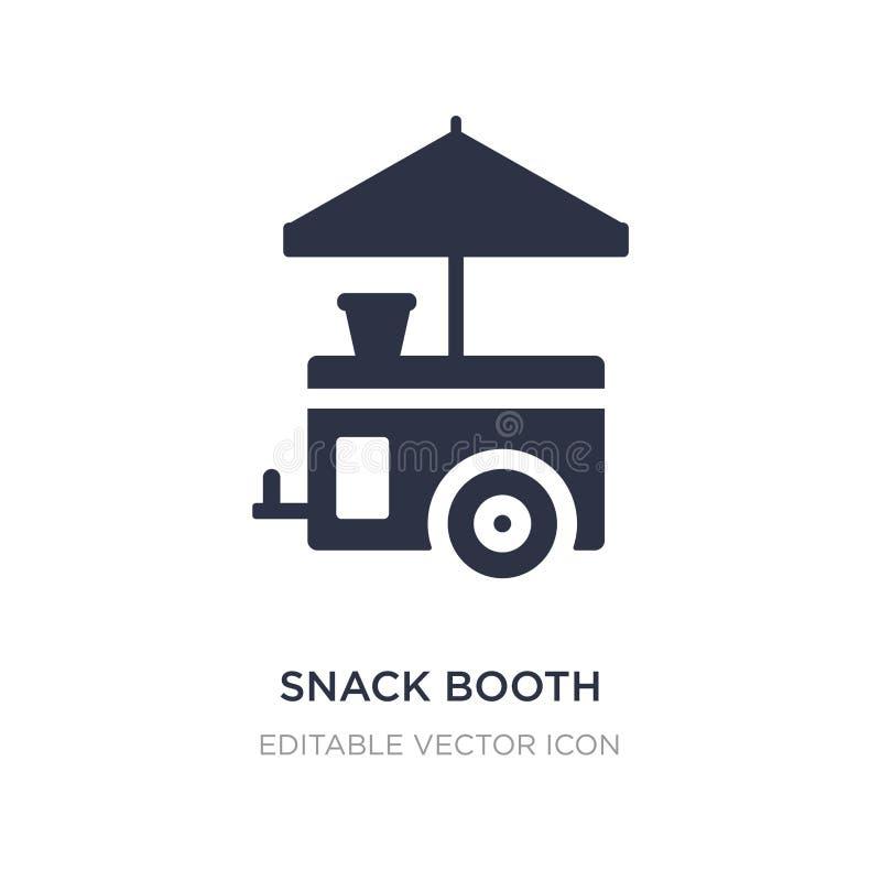 icono de la cabina del bocado en el fondo blanco Ejemplo simple del elemento del concepto de la comida stock de ilustración