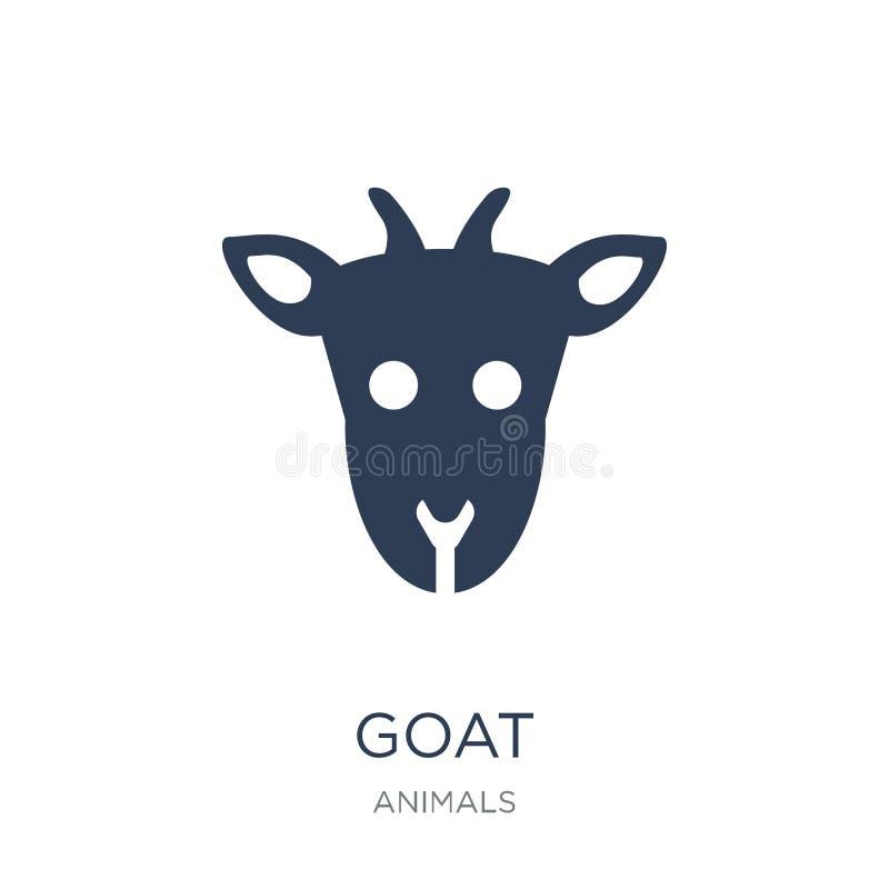 Icono de la cabra Icono plano de moda de la cabra del vector en el fondo blanco de ilustración del vector
