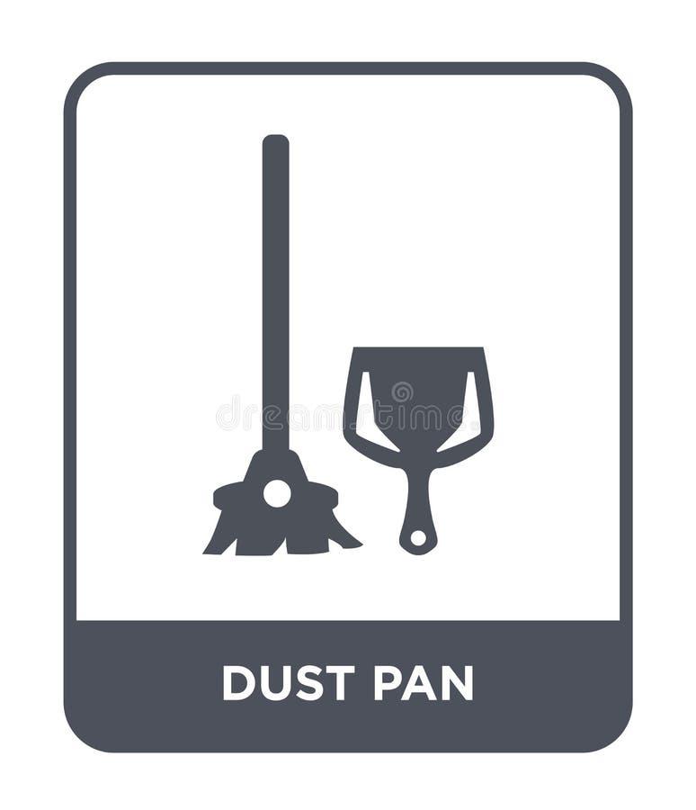 icono de la cacerola del polvo en estilo de moda del diseño icono de la cacerola del polvo aislado en el fondo blanco plano simpl ilustración del vector