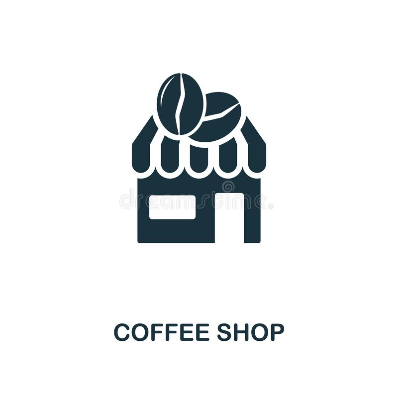 Icono de la cafetería Diseño superior del estilo de la colección del icono de la tienda del coffe UI y UX Icono perfecto de la ca libre illustration