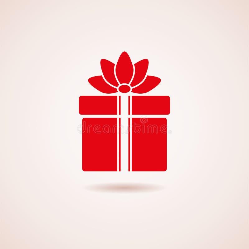 Icono de la caja de regalo ilustración del vector