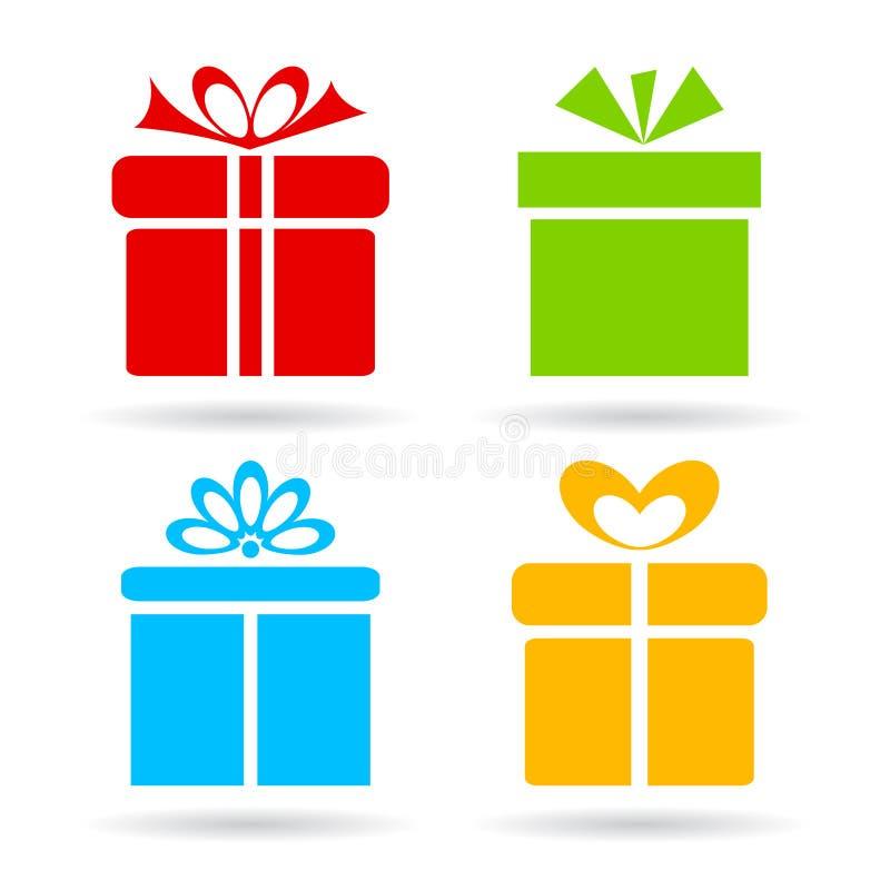 Icono de la caja de regalo libre illustration