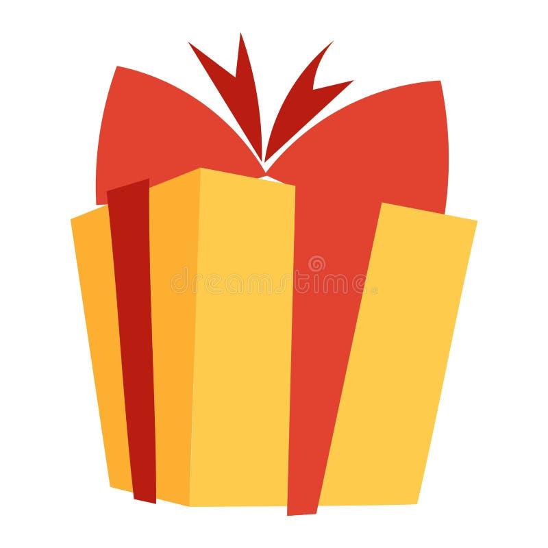 Icono de la caja de regalo aislado ilustración del vector