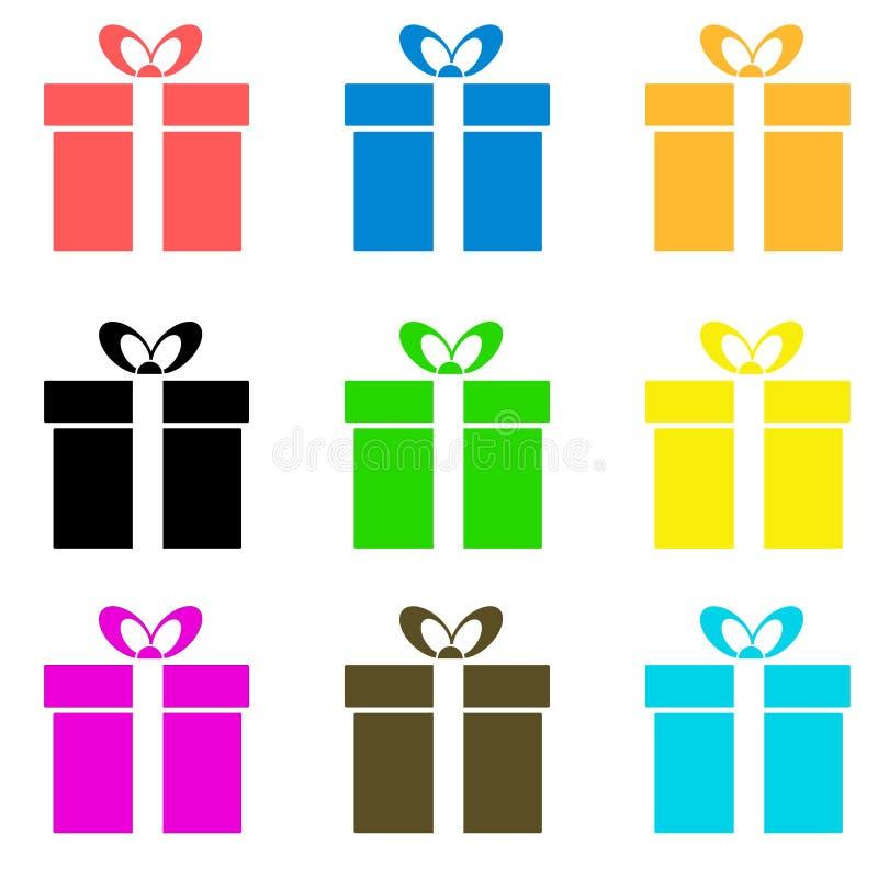 Icono de la caja de regalo del vector stock de ilustración