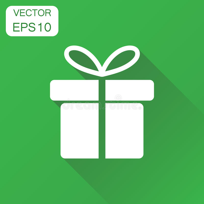 Icono de la caja de regalo Pictograma del regalo del concepto del negocio Illustrat del vector libre illustration