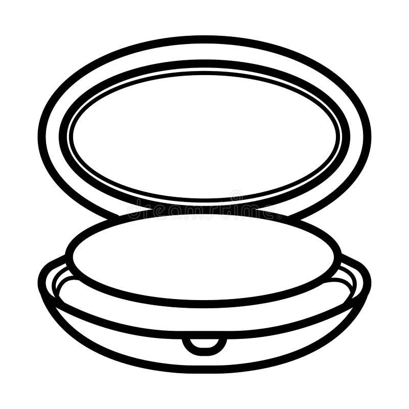 Icono de la caja del polvo libre illustration