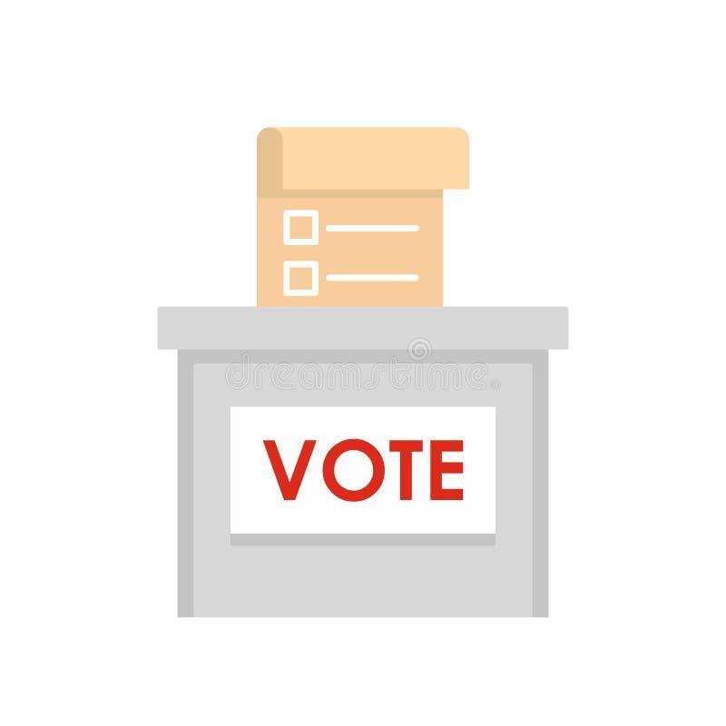 Icono de la caja de la elección del voto, estilo plano libre illustration