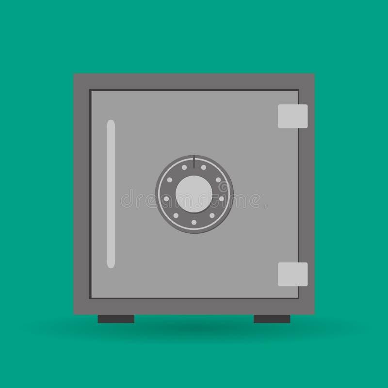 Icono de la caja fuerte del vector ilustración del vector
