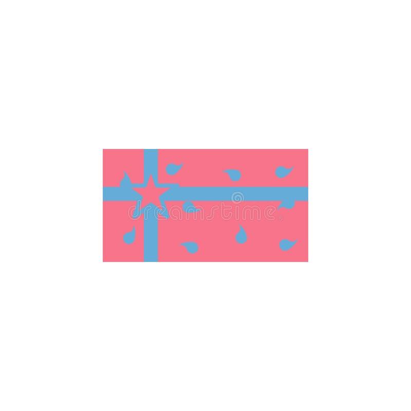 Icono de la caja de regalo Elemento del icono del día de fiesta del diwali para los apps móviles del concepto y del web El icono  ilustración del vector