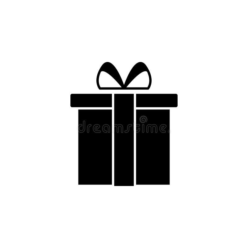 Icono de la caja de regalo Elemento del icono del web para los apps móviles del concepto y del web El icono aislado de la caja de ilustración del vector