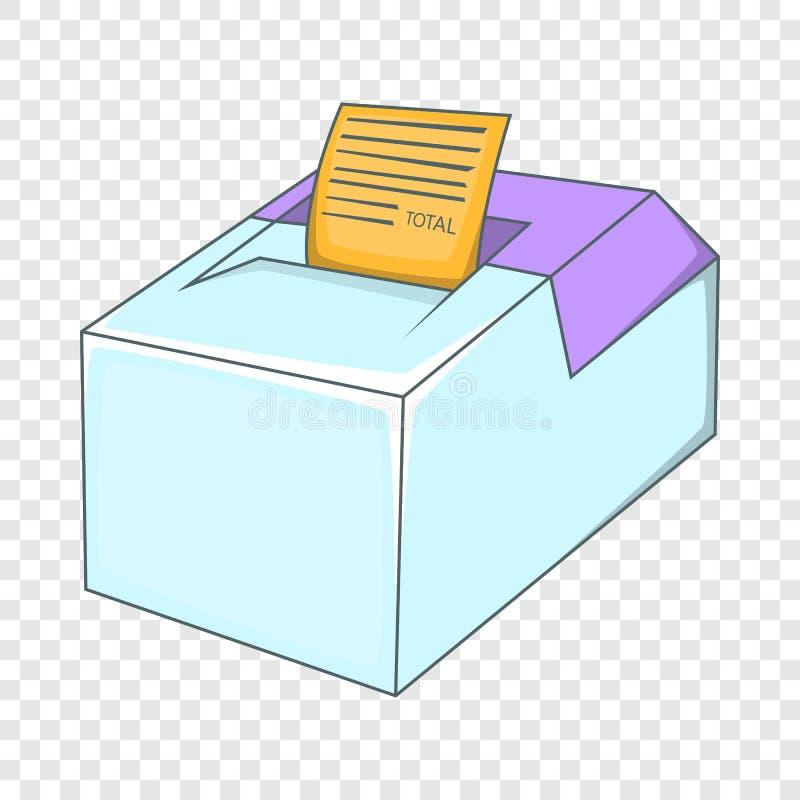 Icono de la caja registradora de la venta, estilo de la historieta ilustración del vector