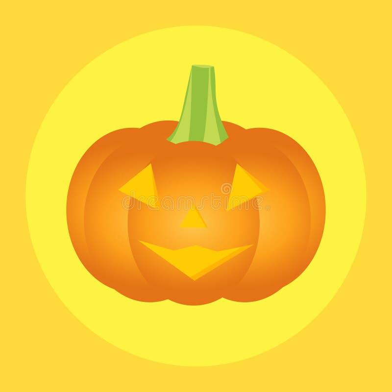Icono de la calabaza de Halloween ilustración del vector