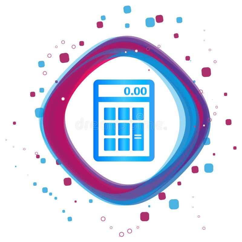 Icono de la calculadora - ejemplo colorido moderno del vector - aislado en el fondo blanco ilustración del vector