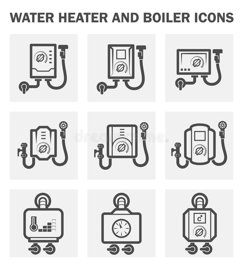 Icono de la caldera ilustración del vector