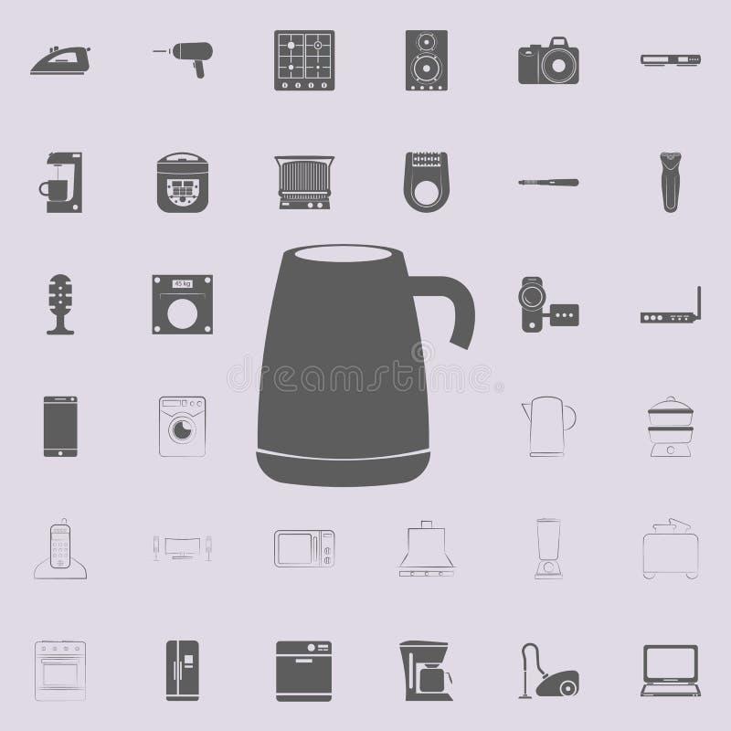 icono de la caldera doble Sistema universal de los electro iconos para el web y el móvil stock de ilustración