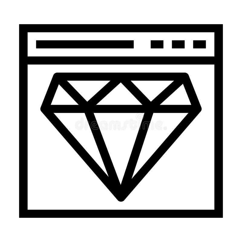 Icono de la calidad del web libre illustration