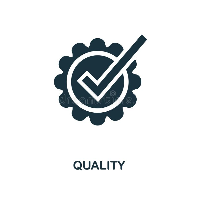 Icono de la calidad Diseño monocromático del estilo de la colección del icono del comercio electrónico Ui Icono simple perfecto d ilustración del vector
