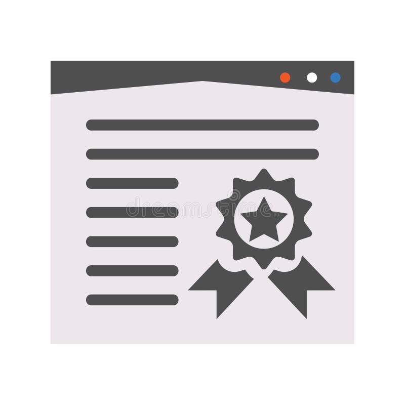 Icono de la calidad de la página libre illustration