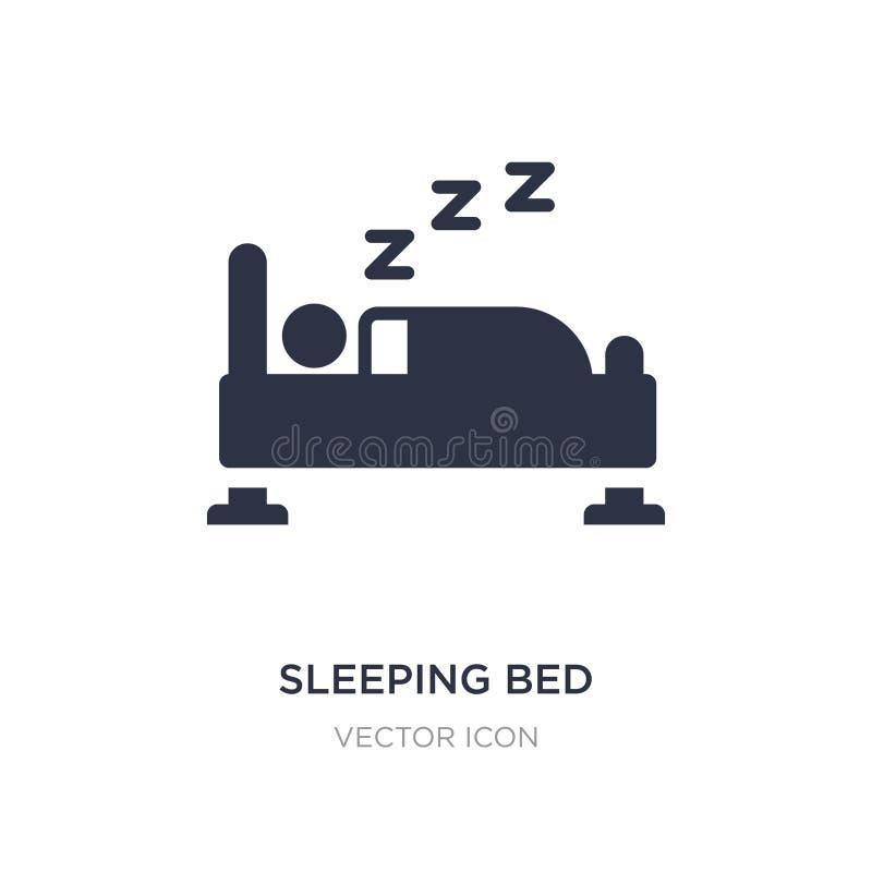 icono de la cama el dormir en el fondo blanco Ejemplo simple del elemento del otro concepto stock de ilustración