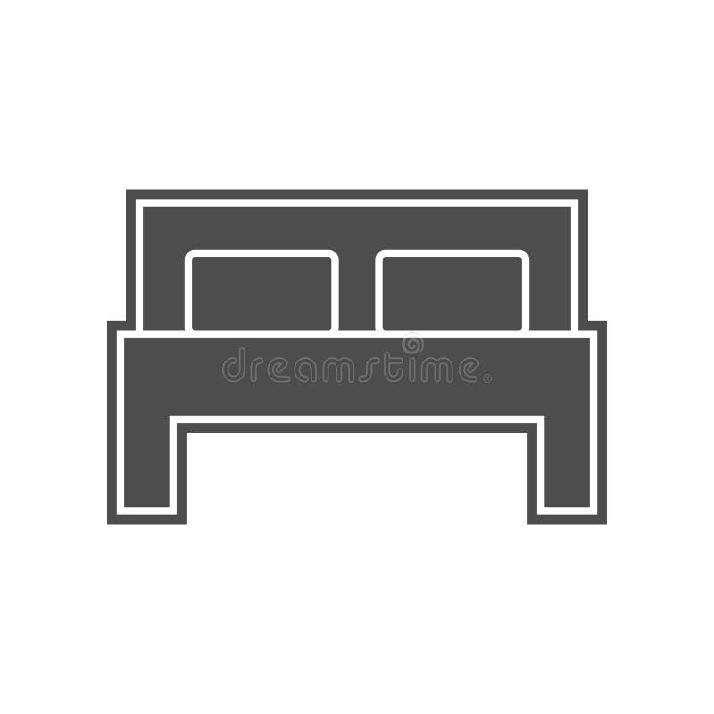 Icono de la cama Elemento de minimalistic para el concepto y el icono m?viles de los apps de la web Glyph, icono plano para el di stock de ilustración