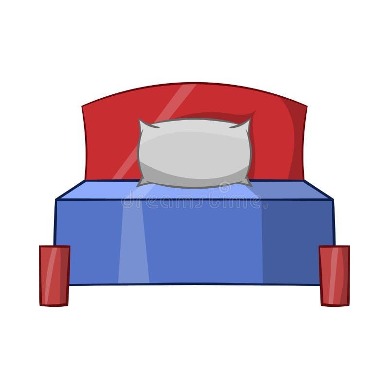 Icono de la cama, estilo de la historieta libre illustration