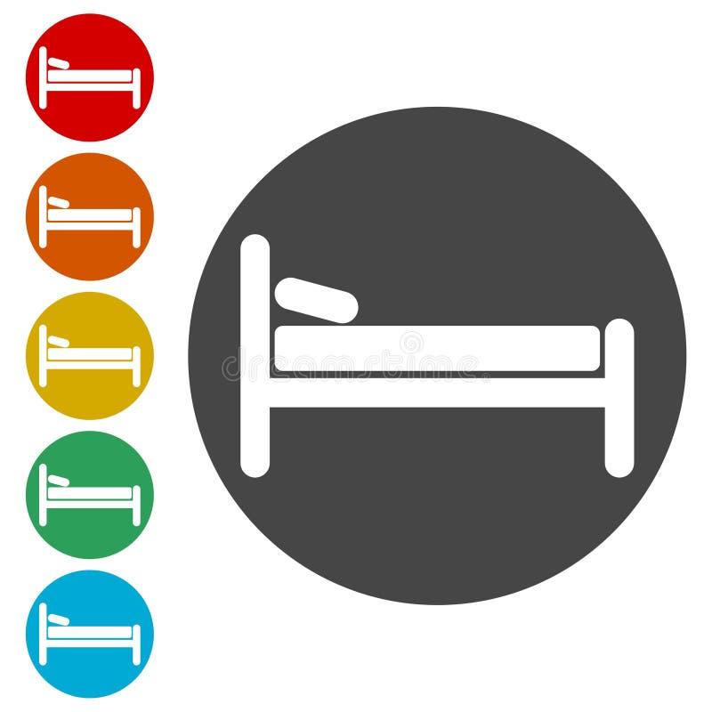 Icono de la cama de hospital ilustración del vector