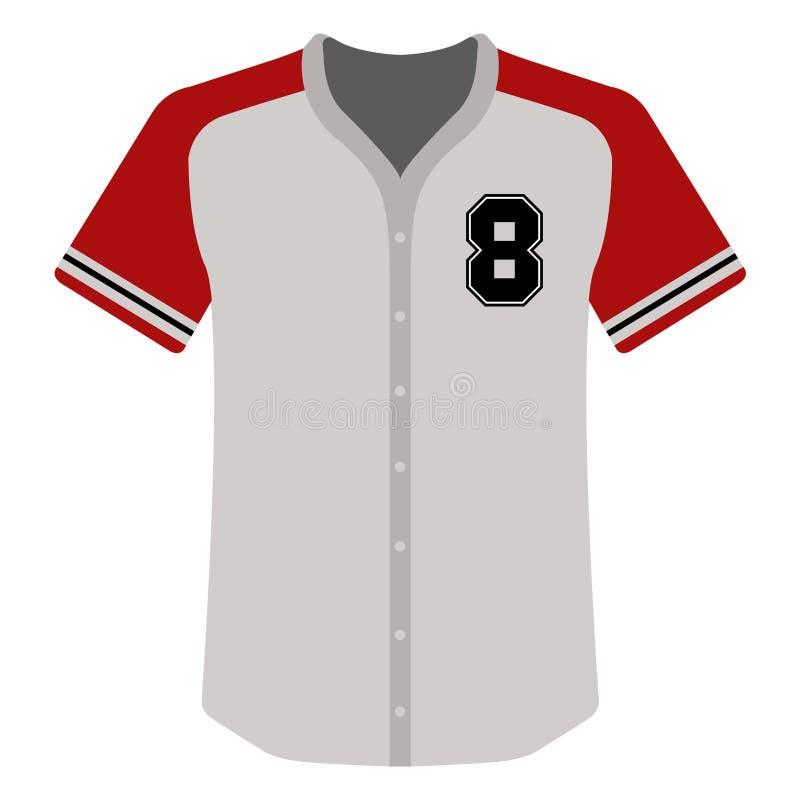 Icono de la camisa del béisbol ilustración del vector