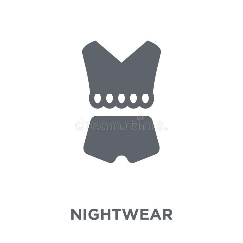 Icono de la camisa de dormir de la colección de la camisa de dormir ilustración del vector