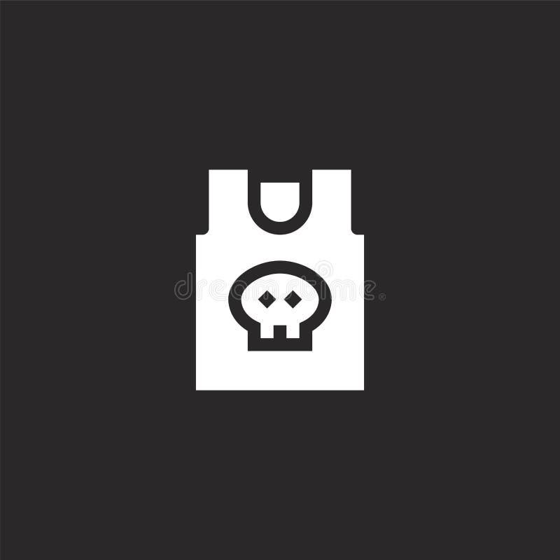 Icono de la camisa Icono llenado de la camisa para el diseño y el móvil, desarrollo de la página web del app icono de la camisa d libre illustration