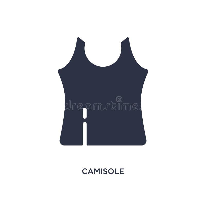 icono de la camiseta en el fondo blanco Ejemplo simple del elemento del concepto de la ropa libre illustration