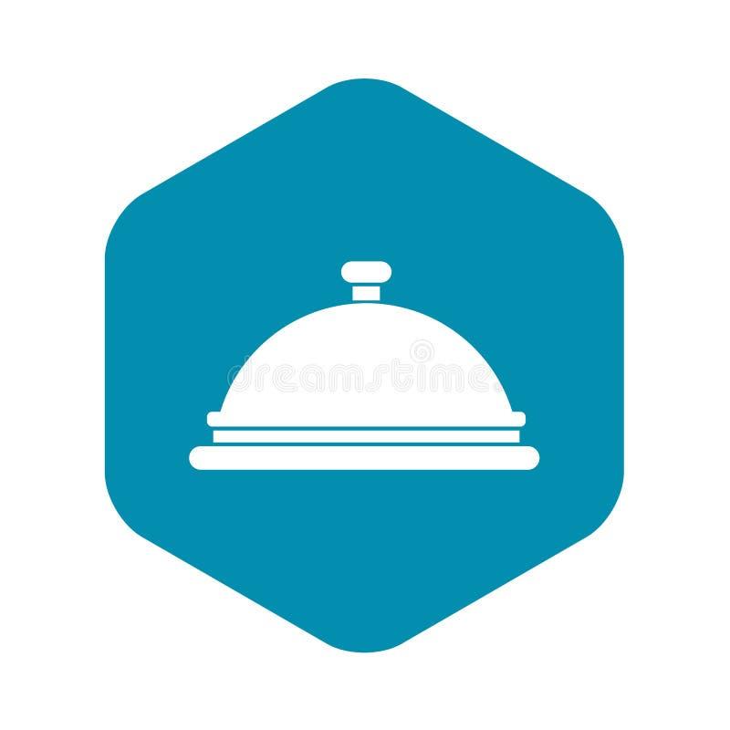 Icono de la campana de cristal del restaurante, estilo simple libre illustration